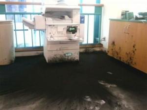 laser toner spill